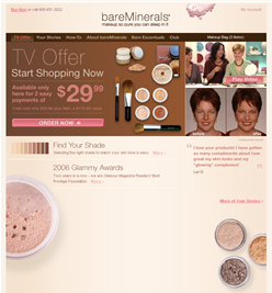 Bare Minerals Website