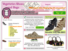 Vegetarian Shoes and Handbags Homepage